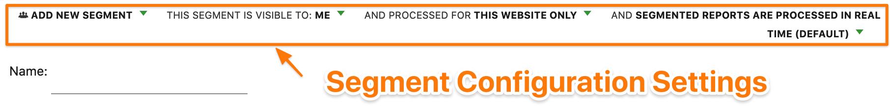 Segment Configuration Settings